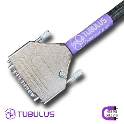 The TUBULUS Argentus DB-25 umbilical Cable is a Pass Labs DC cable based on high quality silvered copper conductors. These are solid core conductors to prevent strand interaction, which is a major source of distortion. The silvered conductors are surrounded by mainly air, because (except for a vacuum) air is the best dielectric. This air insulation is made possible by our tube construction, which can only be made by hand. The TUBULUS Argentus DB-25 Cable is also equipped with a very thick copper shielding to prevent electrical noise entering the cable. To complete this shielding the DB-25 cable is finished with high quality aluminum plugs. The TUBULUS Argentus DB-25 Cable is made for Pass Labs XP line equipment only! Such as the Pass Labs XP-20 and XP-30 preamps and XP-25 phonostage.