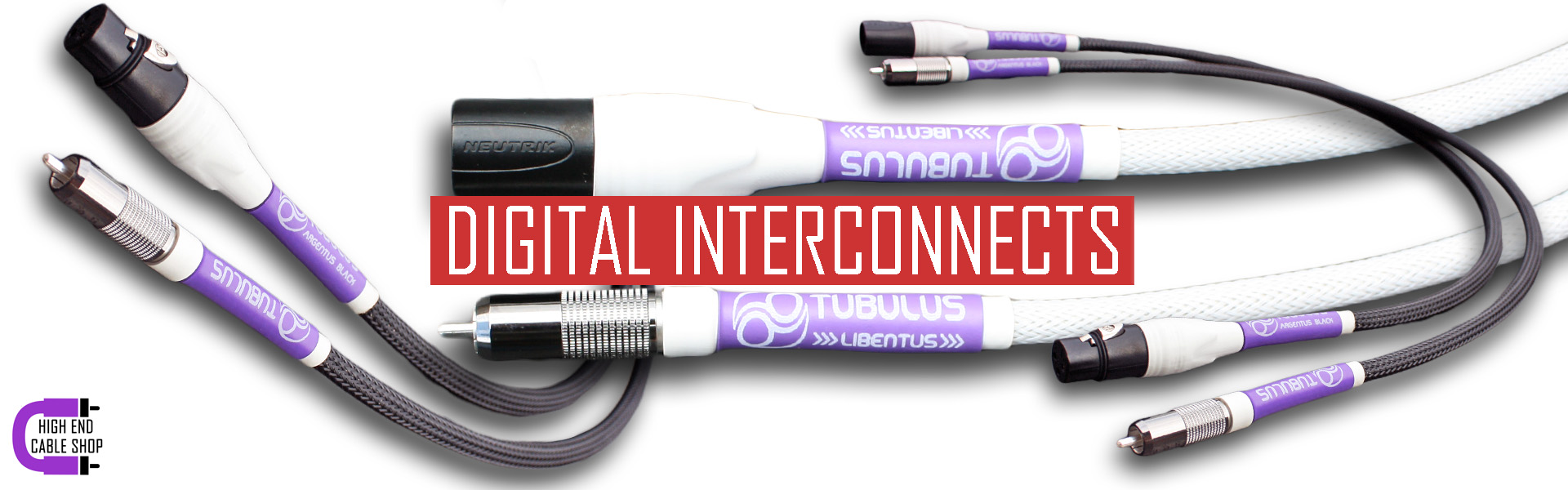 High end cable shop slide digital interconnects