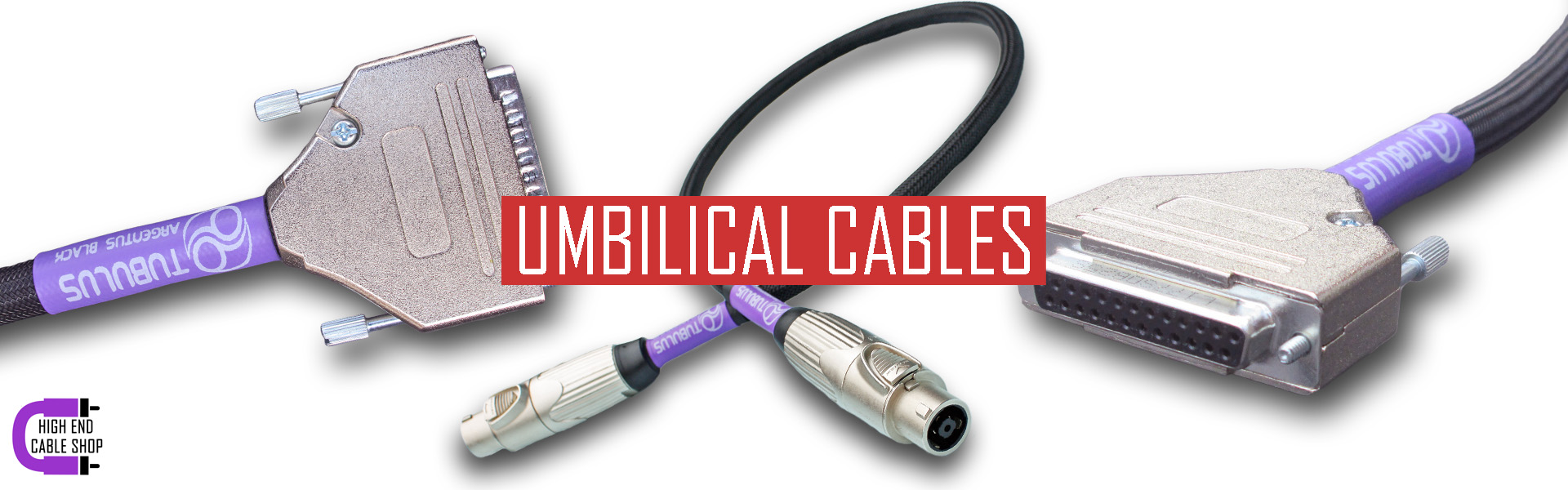 High end cable shop slide umbilical cables